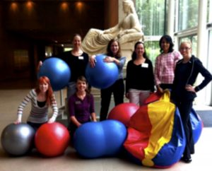 Figure 9. Dr. Tina Fletcher with TWU occupational therapy students at the DMA.