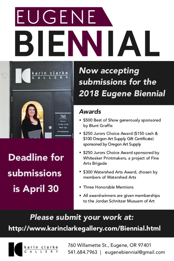 Call For Artists: Eugene Biennial Juried Show | Department