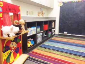 We have an on-site childcare room for children you need to bring with you to the appointment.