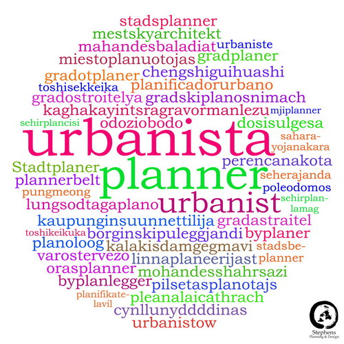 City Planner Multi-lingual Word Cloud sm