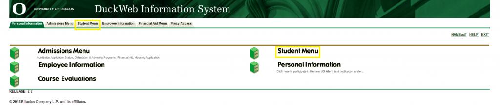 click-student-menu