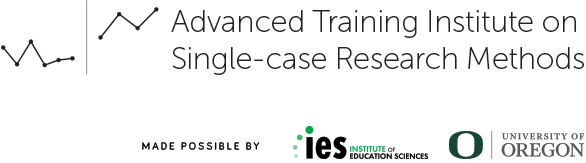 IES Advanced Single Case Research Training Institute