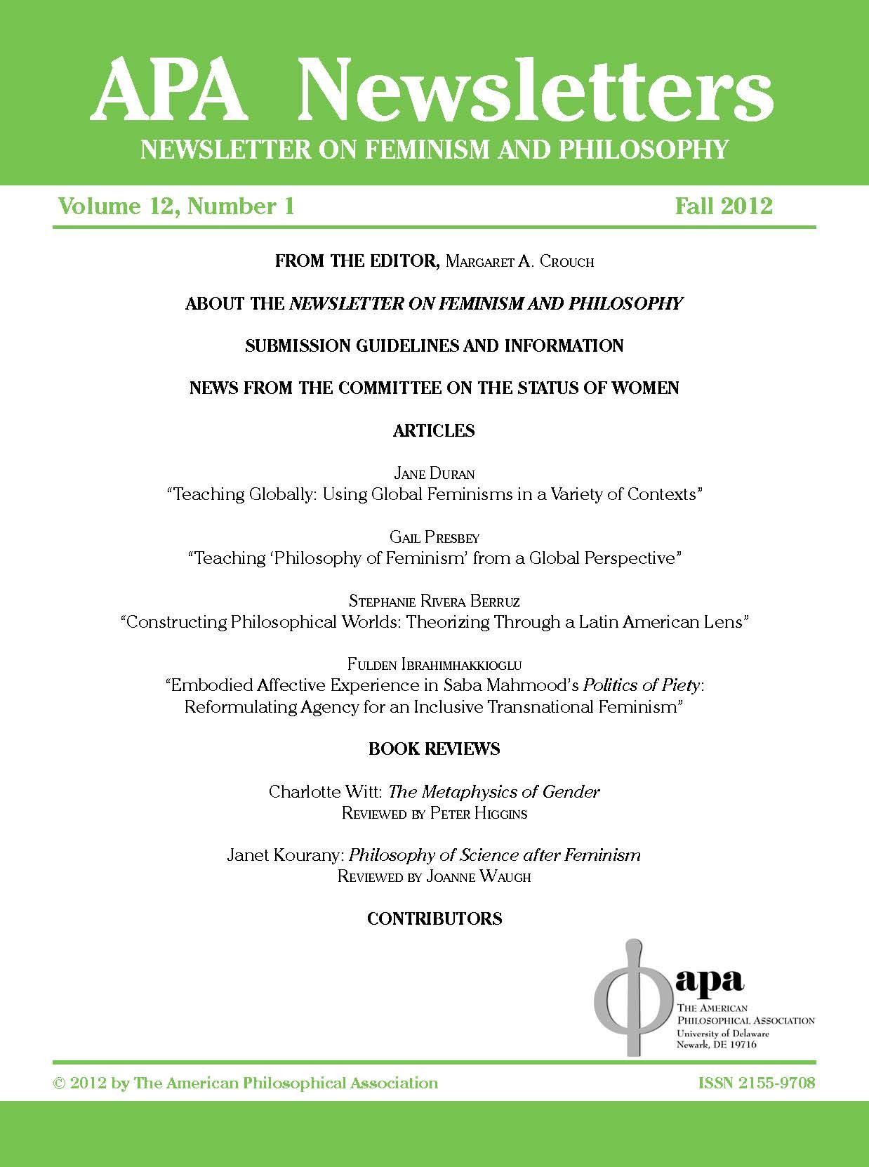 fulden ibrahimhakkioglu publishes article in the fall 2012 apa