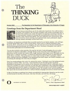 Thinking Duck, Summer 2003 Issue
