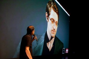 Snowden joined the film festival EDOC 2015 via videoconference.