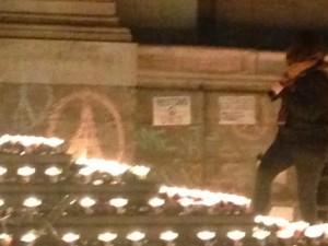 Memorial for the Paris attacks in Lyon
