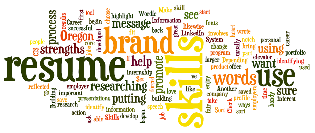 building your brand resumes lundquist college career services