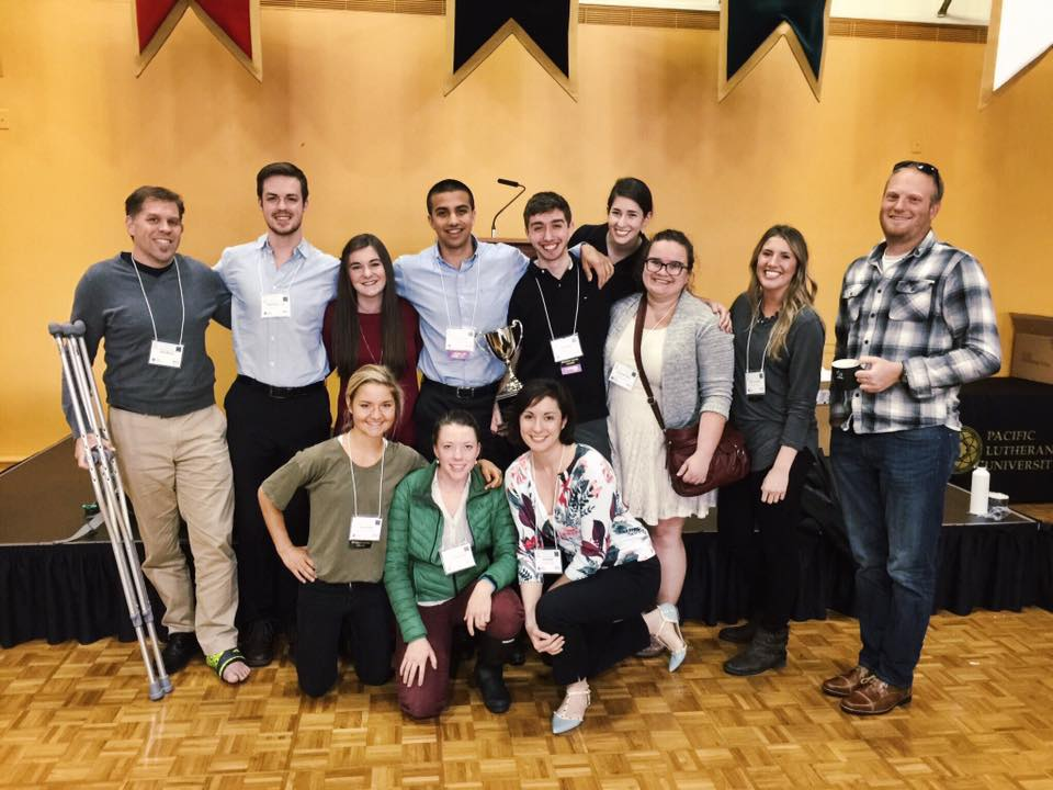 Back row (left to right): Dr. Minson, Adam Rosencrans (Halliwill lab), Taylor Eymann, Nakai Corral, Jared Steele, Sarianne Harris, Samantha Bryan, Alysia Lovemark, Mike Francisco Front row: Keeley Debar (Halliwill lab), Ellie Bartlett, Elise Wright