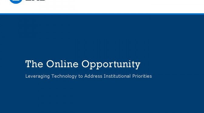 File: EAB Presentation to UO: The Online Opportunity