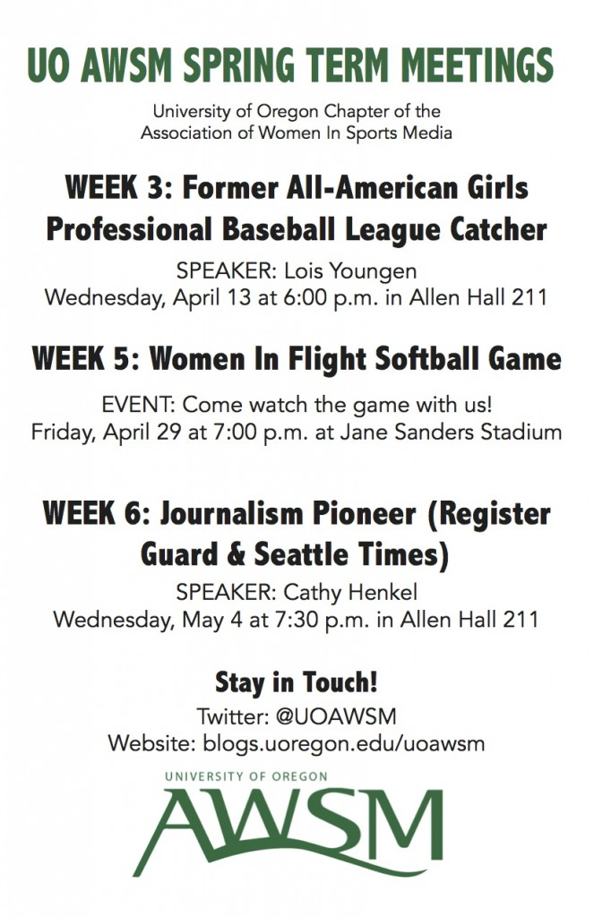 SPRING TERM AWSM MEETINGS FLYER