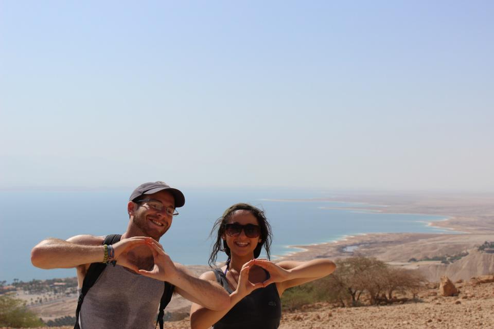 INTL Major Lena E. in Israel, overlooking the Dead Sea