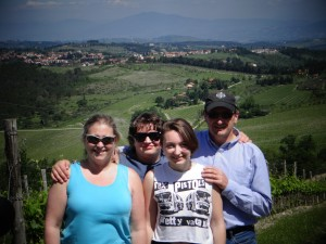 INTL Faculty Galen Martin & family enjoying the view in the Chianti Region of Tuscany, Italy