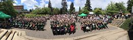 A sunny EMU Amphitheater at the start of our ceremony