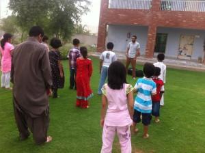 Tariq teaching English