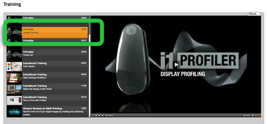 i1 Display Pro video