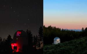 Views of UO's Pine Mountain Observatory, about 35 miles outside of Bend, where Fisher is Associate Director.