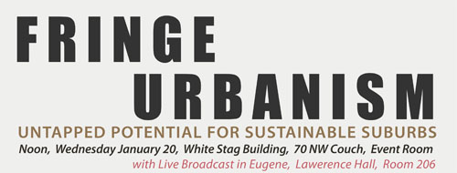 Fringe Urbanism: Untapped Potential for Sustainable Suburbs