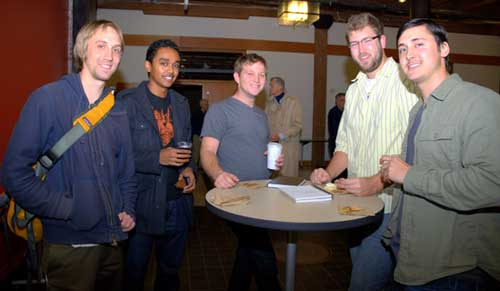 UO | AAA | Portland programs graduate students of architecture enjoy refreshments and discussion before the lecture.