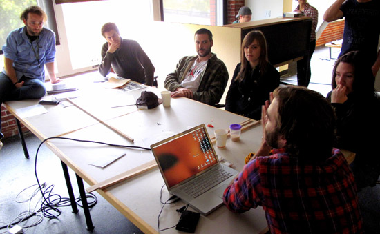 Benedict Youngman, second from left near window, ONTOLOGUE workshop.