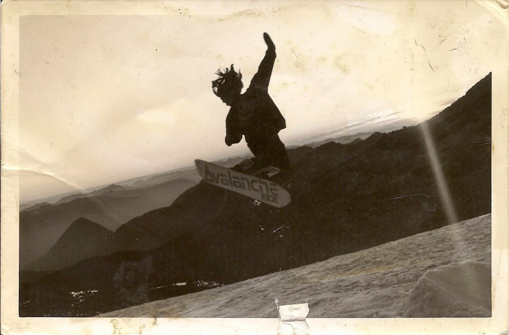 A young Cris Moss at Mt Rainier, Washington. Photo provided by C Moss.