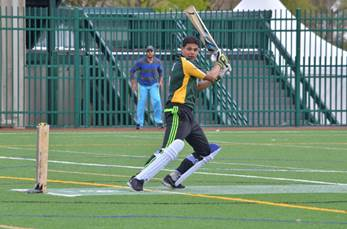 Aditya Chauhan of UO Eugene during his century knock.