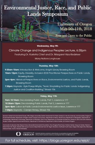 Environmental Justice, Race, and Public Lands Symposium poster