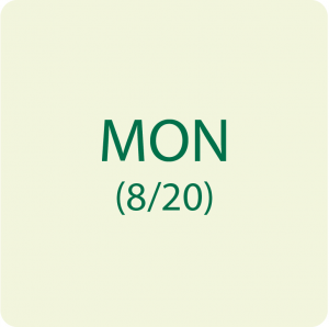 MONDAY 8/20