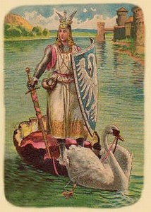 The Knight of the Swan was the legendary ancestor of French crusader Godrey de Bouillon. Source: Wikipedia