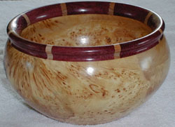 Turned bowl by Vancouver Island artist Dan Jerowsky (http://djerowsky.bravepages.com/)
