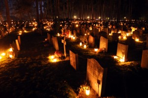 All Souls' Day in Skogskyrkogården, Sweden Source: Wikimedia