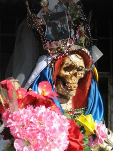 a Santa Muerte south of Nuevo Laredo, Mexico. Source: Wikimedia