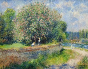 Hardly photographic [Renoir, Chestnut Trees in Bloom (1881) Source: wikimedia commons]