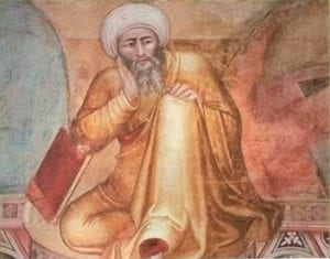 Fresco of Averroes by Andrea de Bonaiuto
