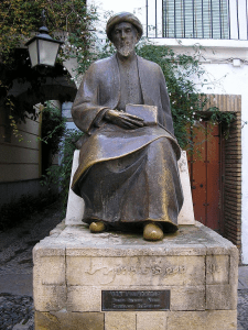 Statue of Maimonides in his hometown, Cordova