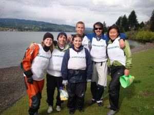 UO Sailing Team after winning the 2011 NWICSA Team Race Qualifiers