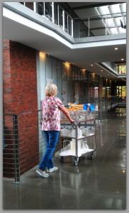 Delivering Glassware