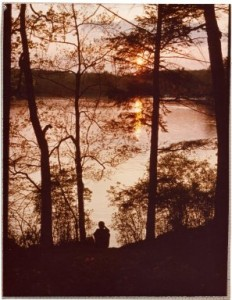 Lake Waban, 1978. Wellesley College Archives.