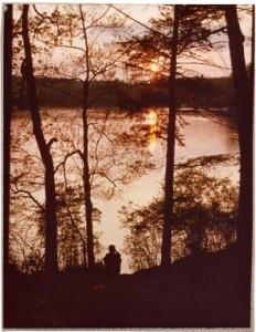 Lake Waban, 1978. Wellesley College Archives.