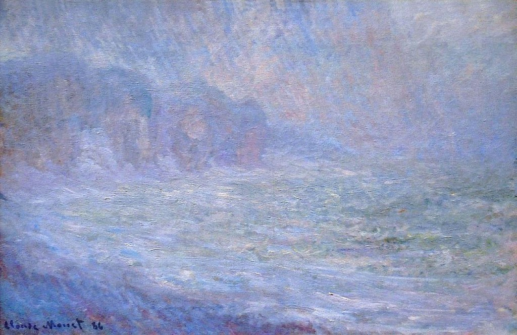 "Claude Monet, ""Cliffs at Pourville."" Source: Wikipaintings."