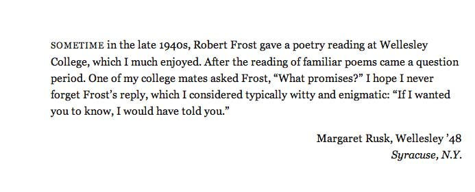 Robert Frost Harvard Magazine