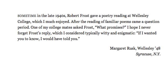 Robert Frost Harvard Magazine