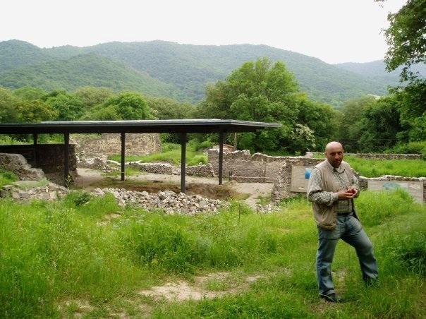 The main Dmanisi excavation area and site museum director, Gocha Kiladze