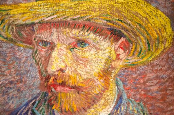 Van Gogh (1887): Self-portrait with a straw hat