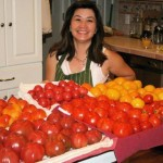 Mom with her tomatoes