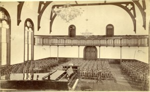 """College Hall Chapel, site of """"the last event"""" in College Hall."""