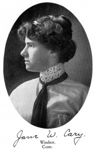 Jane Cary in her senior yearbook.