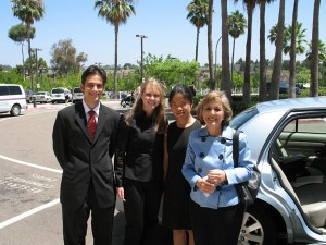 Ali and other interns with Senator Barbara Boxer