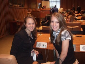 Ali and another student visiting the UN in 2007
