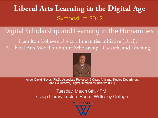 Digital Scholarship and Learning in the Humanities