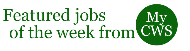 featured jobs of the week